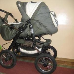 Продам детскую коляску джип,  цвет оливковый